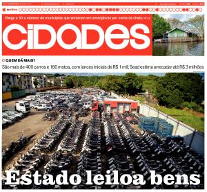 Jornal A Crítica destaca leilão coordenado pela Sead