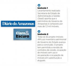Levantamento dos imóveis do Governo do Amazonas é destaque no jornal Diário do Amazonas