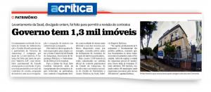 Jornal A Crítica destaca levantamento do patrimônio do Governo do Estado realizado pela Sead