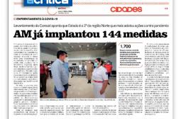 "Jornal A Crítica destaca ""AM já implantou 144 medidas"""