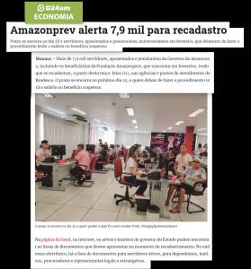 D24Am destaca – Amazonprev alerta 7,9 mil para recadastro