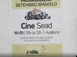 Setembro Amarelo: Auditório da Sead vira sala de cinema para alertar sobre o suicídio
